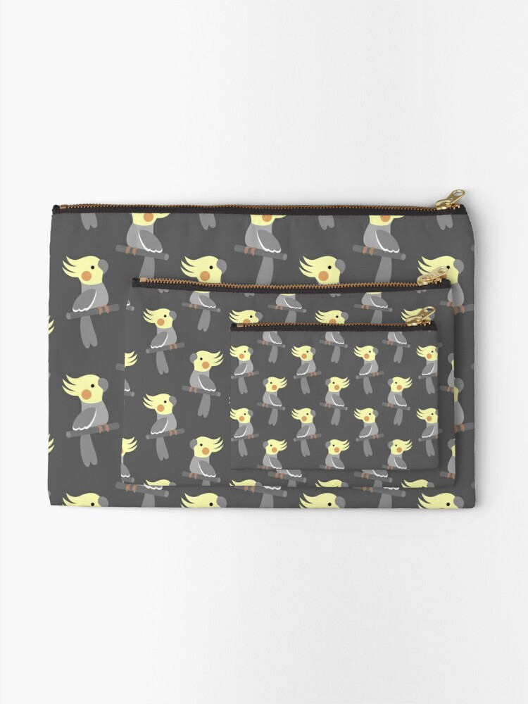 Alternate view of Cute cockatiel Zipper Pouch