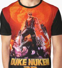 Duke Nukem 3D Retro Spielendruck (hoher Kontrast) Grafik T-Shirt