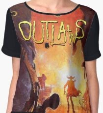 Outlaws (High Contrast) Chiffon Top