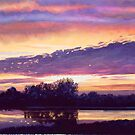 """Mill Creek Sunset"" Watercolor by Paul Jackson"