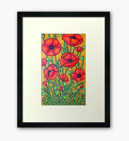 Poppies II Framed Print