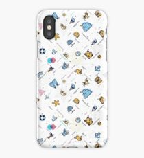 Summer  Seamless pattern memphis style iPhone Case