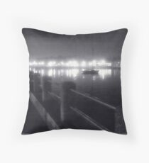Nightfall over the bay Throw Pillow