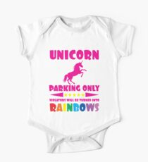 Unicorn Parking Only Sign One Piece - Short Sleeve