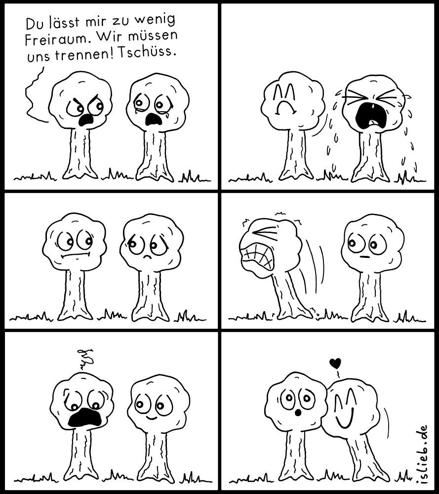 Trennen - islieb-Comic von islieb