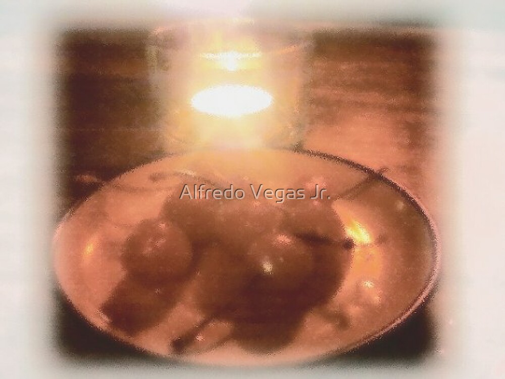 Candle lit cherries by Alfredo Vegas Jr.