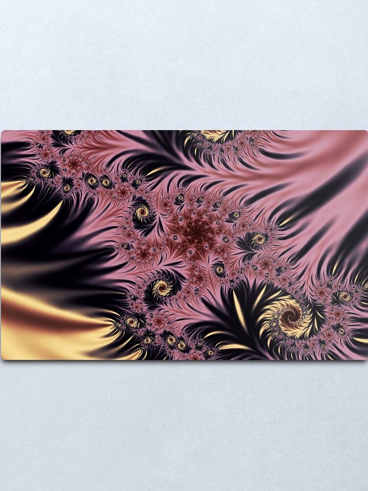 Alternate view of Silken Pleasures Metal Print