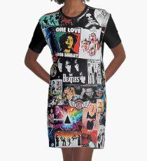 Vestido camiseta Collage de rock