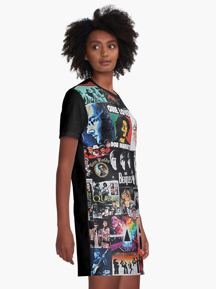 Alternate view of Rock Collage Graphic T-Shirt Dress