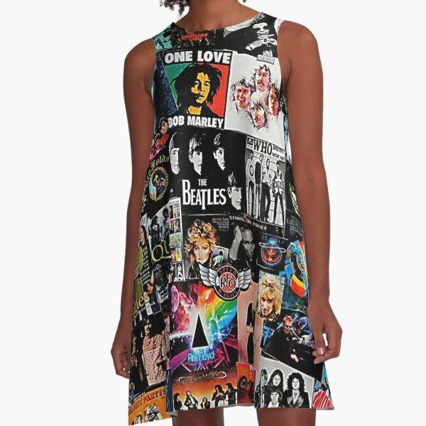 Rock Collage A-Line Dress