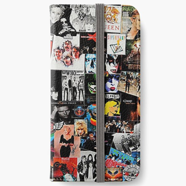 Rock Collage iPhone Wallet