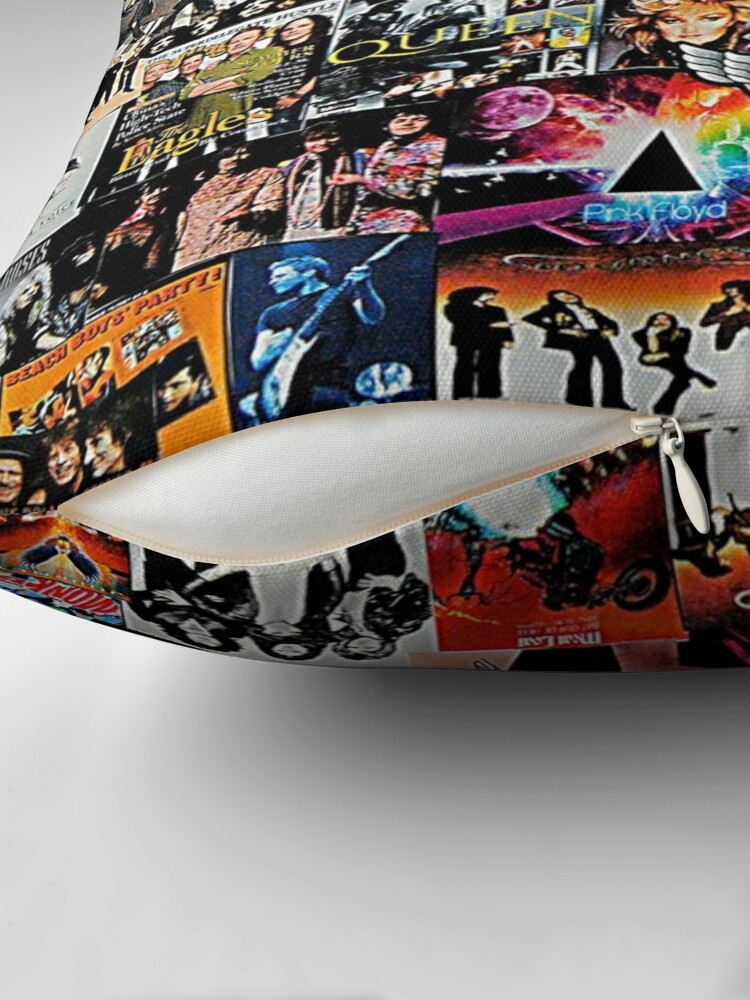 Alternate view of Rock Collage Throw Pillow