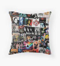 Rock Collage Throw Pillow