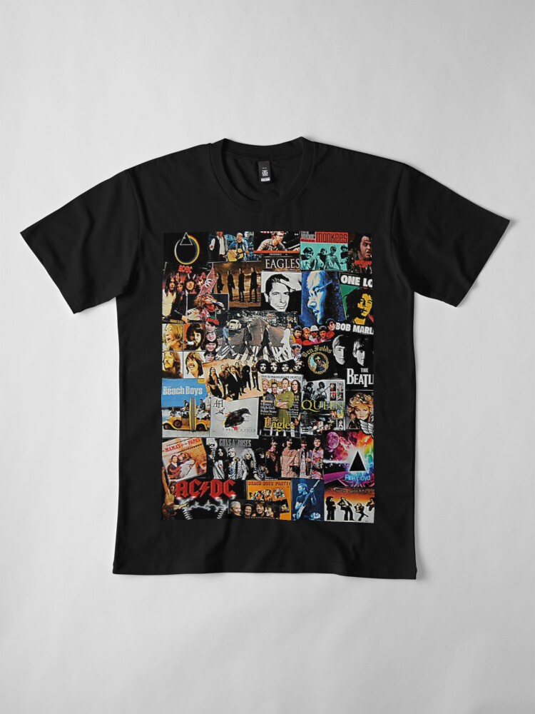 Vista alternativa de Camiseta premium Collage de rock