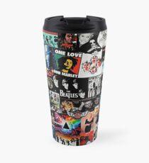 Taza de viaje Collage de rock