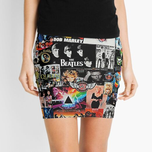 Rock Collage Mini Skirt