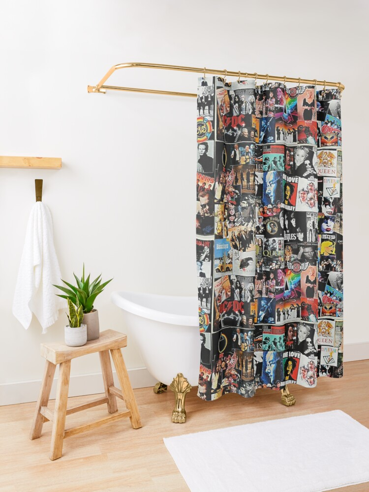 Alternate view of Rock Collage Shower Curtain