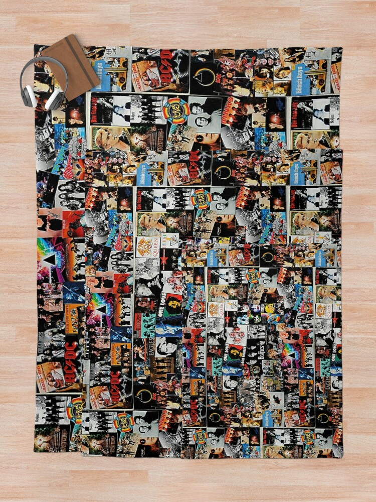 Alternate view of Rock Collage Throw Blanket