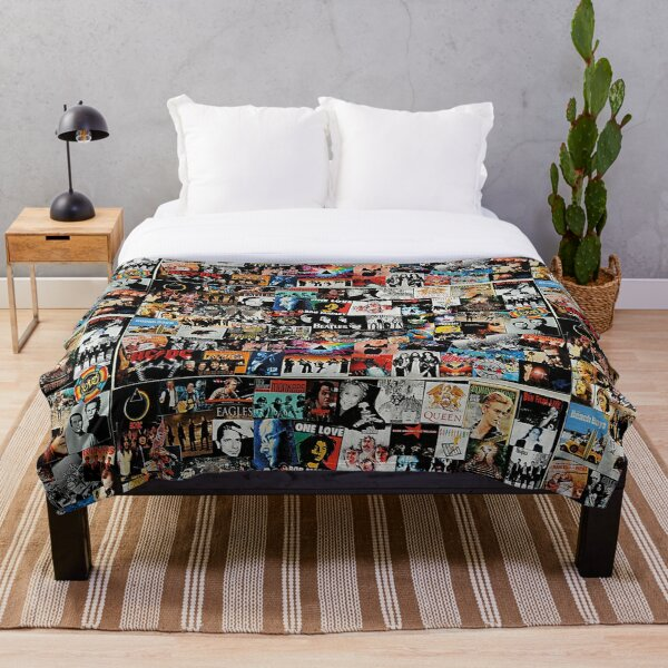 Rock Collage Throw Blanket