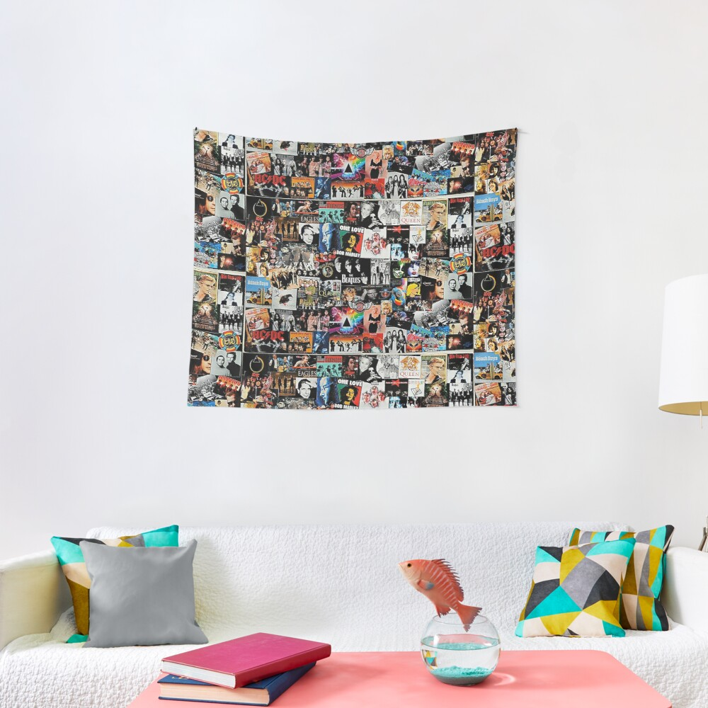 Rock Collage Tapestry