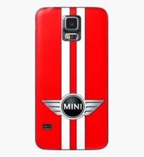 White and Red Raace Case/Skin for Samsung Galaxy