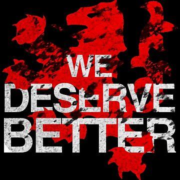 Glasgow Rangers We Deserve Better (Distressed) by trueblueapparel