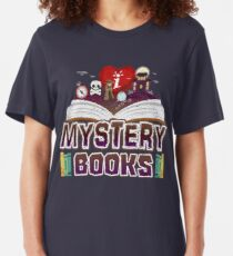 I Love Mystery Books For Book Lovers Slim Fit T-Shirt