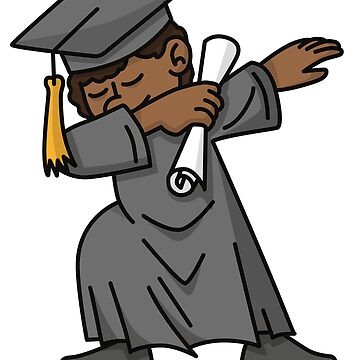 Black boy student dab dabbing graduation school by LaundryFactory
