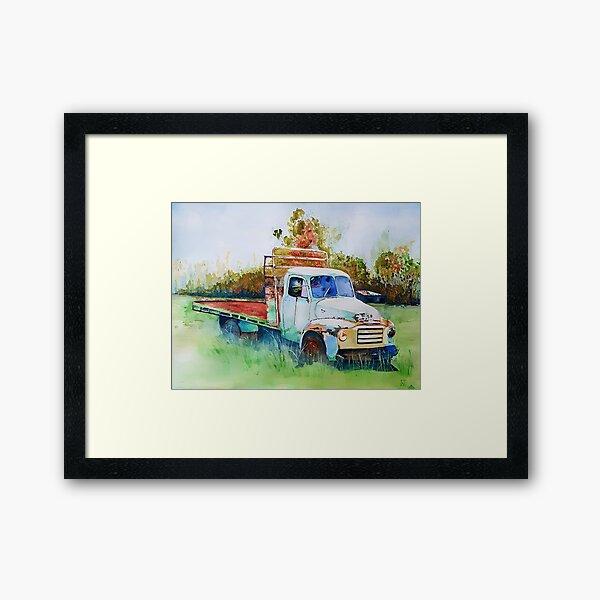 Bedford Tabletop Truck Framed Art Print