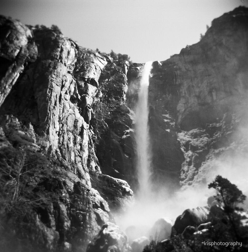 Yosemite rock and water by irisphotography