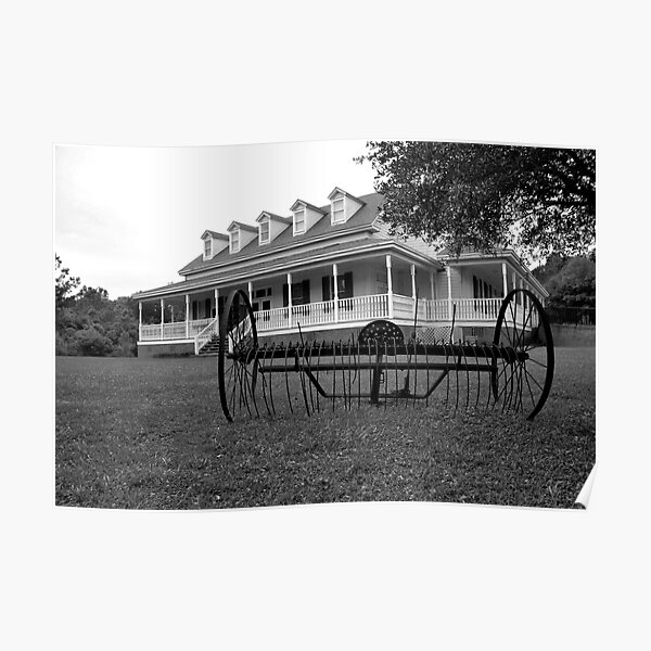 Old Santee Canal Park Museum House Poster