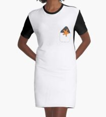 Pocket Butt Graphic T-Shirt Dress