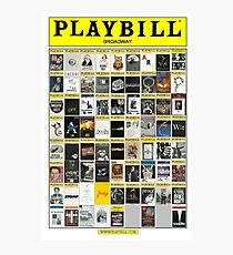 Broadway Playbill Collage Photographic Print