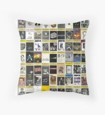Broadway Playbill Collage Throw Pillow