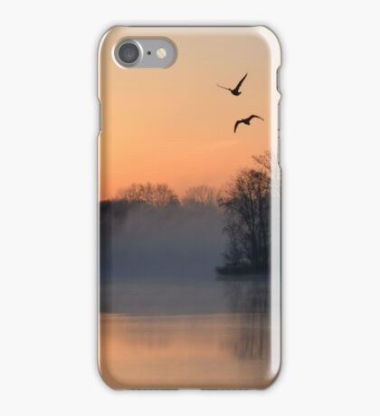 Sunrise at the Lake iPhone Case/Skin