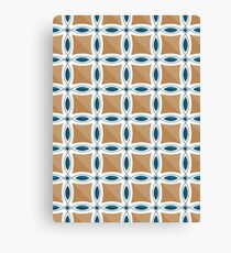 Circles with lens pattern and Diamond Canvas Print