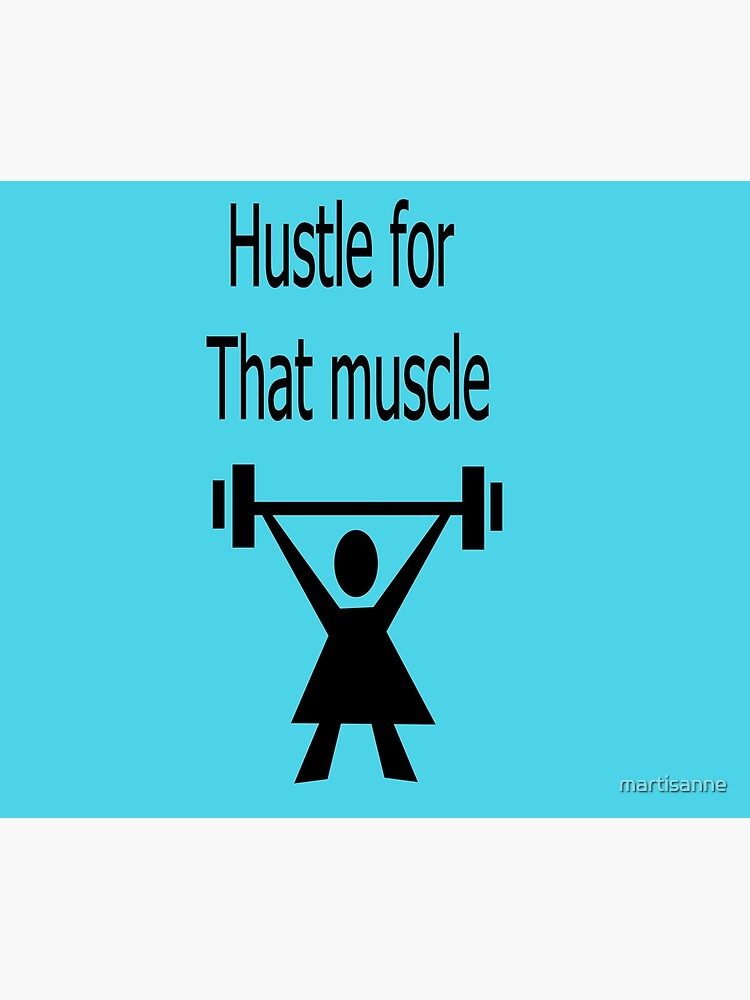 Hustle for that muscle in black and blue by martisanne