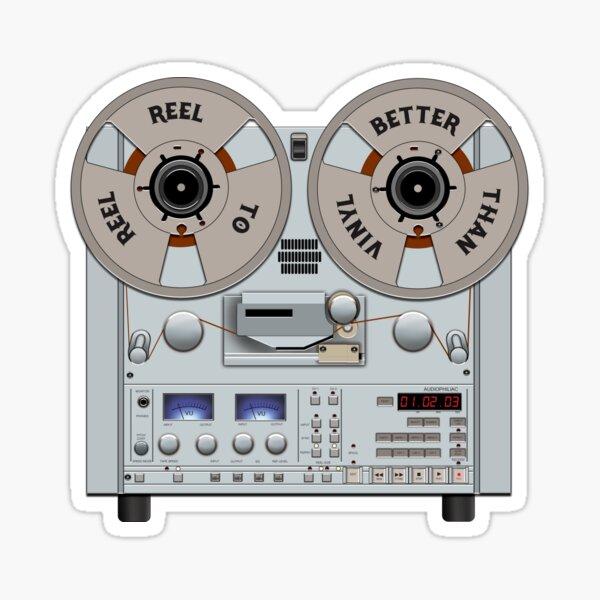 Reel to Reel Tape Recorder is Better Than Vinyl Sticker