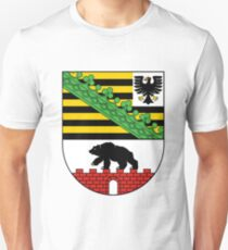 Coat of arms of Saxony-Anhalt - Flag of Saxony-Anhalt - Flag of Saxony-Anhalt Unisex T-Shirt