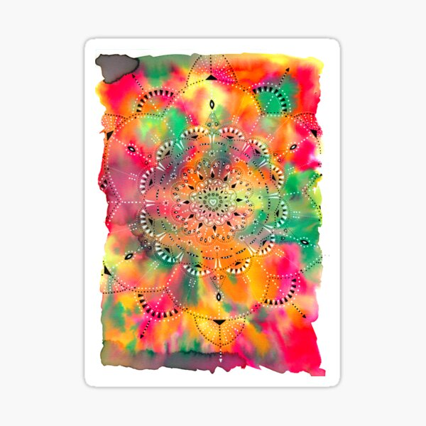 Mandala Love Colors Sticker