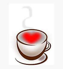 Coffee with a heart - I love coffee Photographic Print