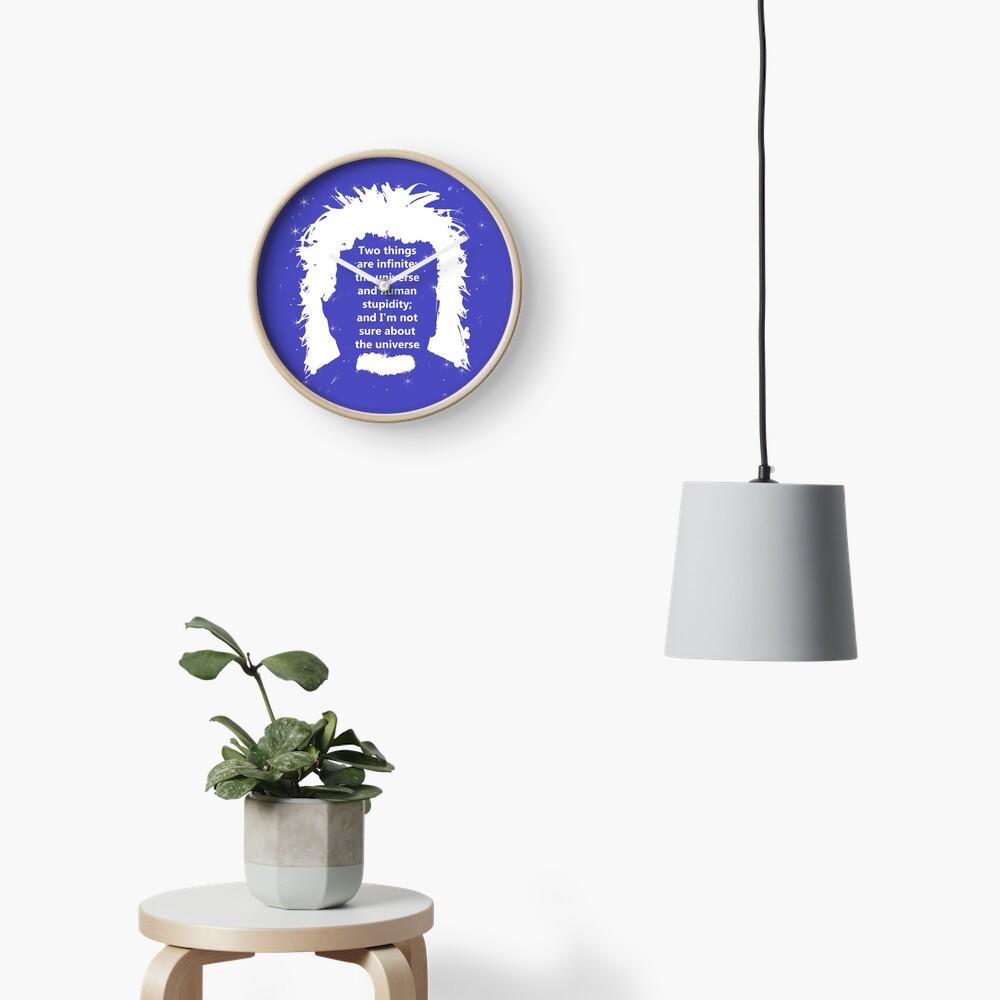 Diseño de cita de Albert Einstein Reloj