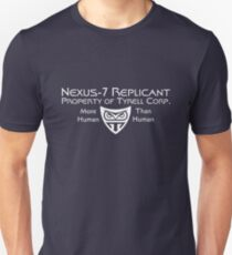 Nexus 7 Replicant - Property of Tyrell Corp. Unisex T-Shirt