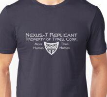 Nexus 7 Replicant - Property of Tyrell Corp. Unisex T-Shirt
