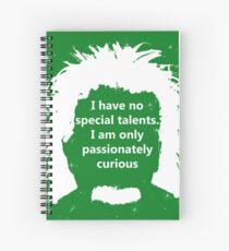 Cuaderno de espiral Diseño de cita de Albert Einstein