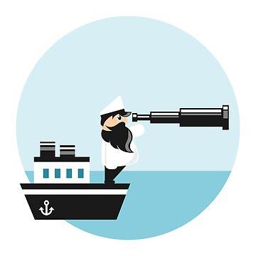 Sea captain with spyglass  by SooperYela