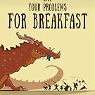 Dragon Illustration Encouragement Quote   Geeky Love and Friendship by PathOfPixels