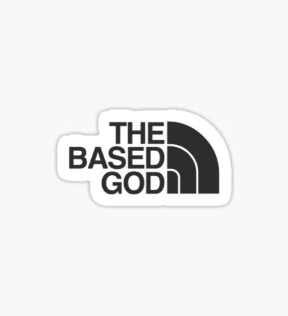 The North Faced God Sticker