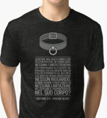 Histoire d'O [Italian book quote] - Pauline Reage Tri-blend T-Shirt