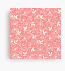 luxury old fashioned floral ornament Canvas Print